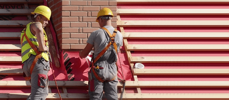 Image of a roofers working